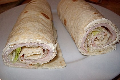 Schinken-Frischkäse-Wrap 7