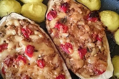 Auberginen/Melanzane gefüllt und gebacken 18