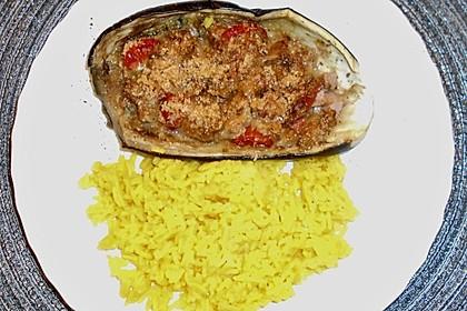 Auberginen/Melanzane gefüllt und gebacken (Bild)