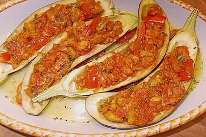 Auberginen/Melanzane gefüllt und gebacken 9