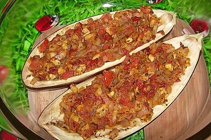 Auberginen/Melanzane gefüllt und gebacken 11