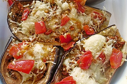 Auberginen/Melanzane gefüllt und gebacken 14