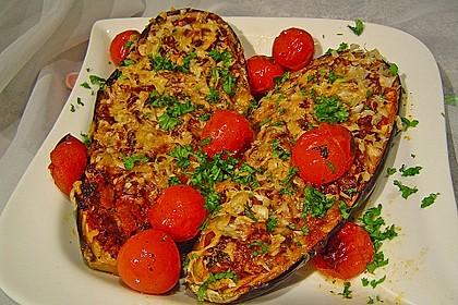 Auberginen/Melanzane gefüllt und gebacken 2