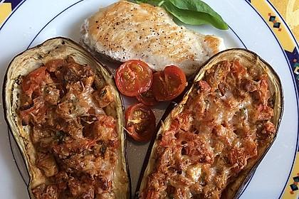 Auberginen/Melanzane gefüllt und gebacken 8