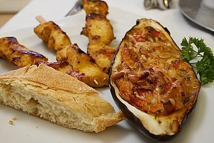 Auberginen/Melanzane gefüllt und gebacken 3