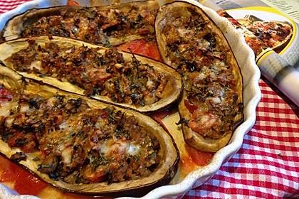 Auberginen/Melanzane gefüllt und gebacken 5