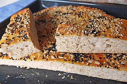 Fladen-Mischbrot, mit Heißluft gebacken