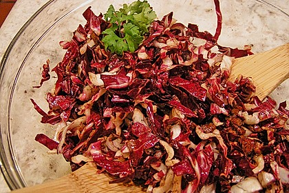 Radicchio-Speck Salat