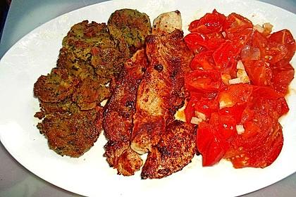 Schnitzel natur mit Karotten-Erbsengemüse 1