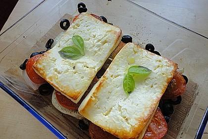 Gebackener Feta mit Tomaten und Oliven