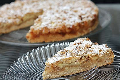 Schneller Apfelkuchen mit Streuseln