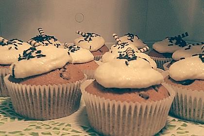 Kaffe-Schoko-Cupcakes mit Rumfrosting