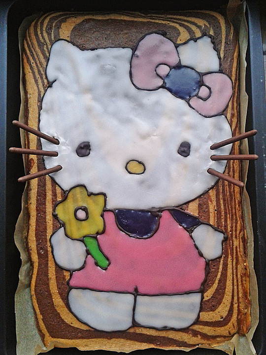 Zebra Hello Kitty Kuchen Von Schnurzel82 Chefkoch De