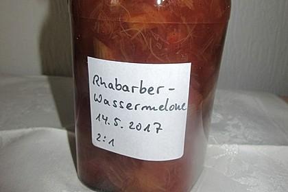 Rhabarber-Melonen Marmelade mit Vanille (Bild)