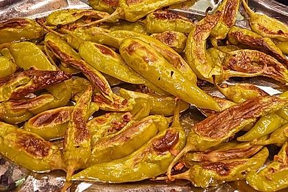 Peperoni im Ofen oder auf dem Grill gebacken 1