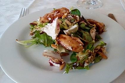 Blattsalate mit Hähnchenstreifen und cremigem Heidelbeerdressing 6