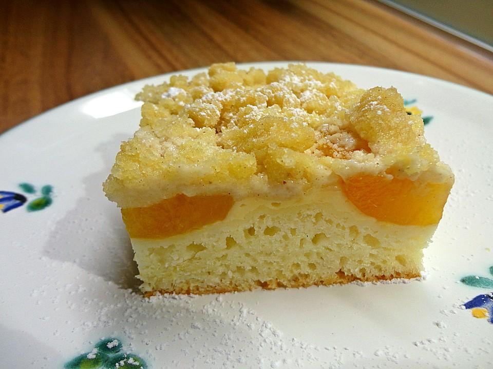 Aprikosen Vanillecreme Streusel Blechkuchen Von Mimatochter1952