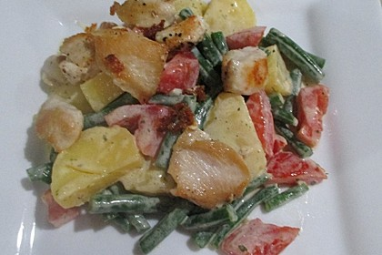 Hähnchenfilet mit Kartoffel-Bohnen-Salat 15