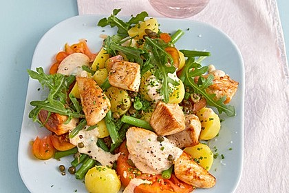 Hähnchenfilet mit Kartoffel-Bohnen-Salat 1