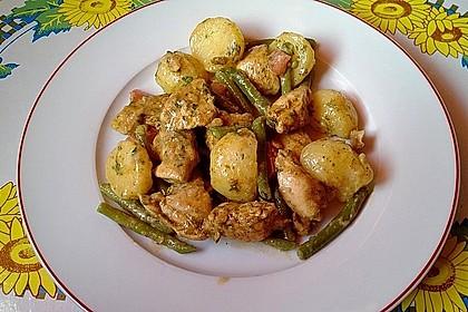 Hähnchenfilet mit Kartoffel-Bohnen-Salat 9