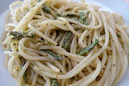 Pesto von grünem Spargel