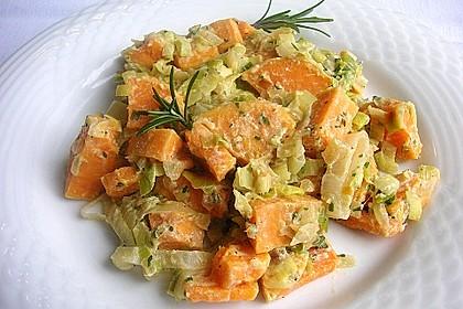 Süßkartoffel-Lauch-Pfanne 5
