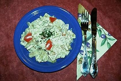 Bratkartoffelsalat mit Champignons & Schinken (Bild)