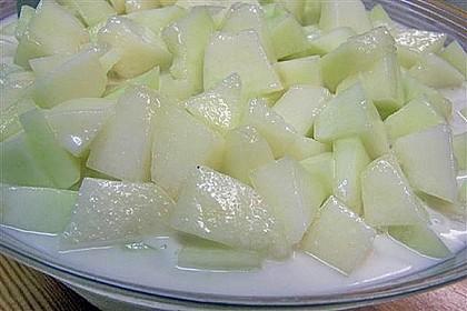 Honigmelone in Kokosmilch aus Thailand