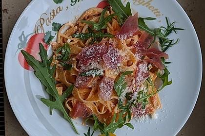 Pasta mit Rucola, Mascarpone und Parmaschinken 6