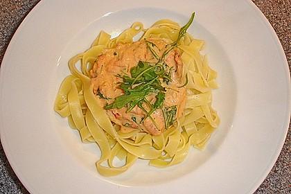 Pasta mit Rucola, Mascarpone und Parmaschinken 26