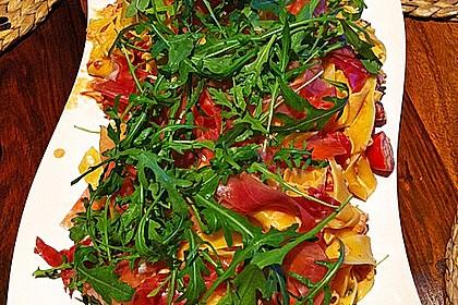 Pasta mit Rucola, Mascarpone und Parmaschinken 3