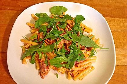 Pasta mit Rucola, Mascarpone und Parmaschinken 13