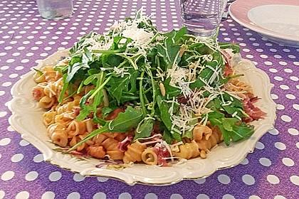Pasta mit Rucola, Mascarpone und Parmaschinken 12