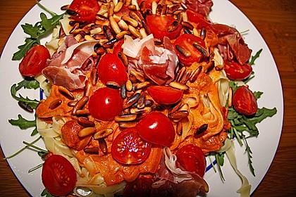 Pasta mit Rucola, Mascarpone und Parmaschinken 18