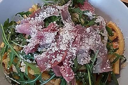 Pasta mit Rucola, Mascarpone und Parmaschinken 27