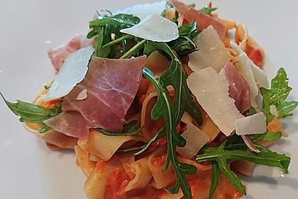 Pasta mit Rucola, Mascarpone und Parmaschinken 1