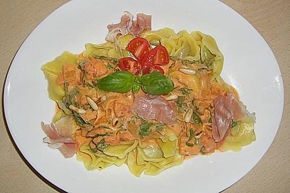Pasta mit Rucola, Mascarpone und Parmaschinken 28