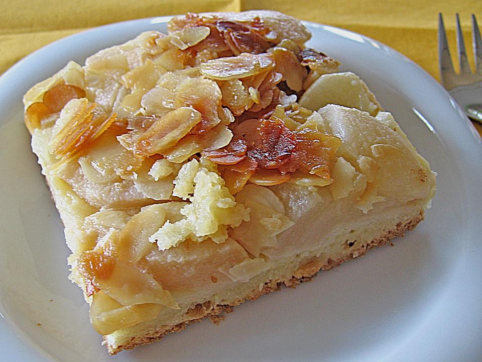 Apfel Birnen Kuchen Florentiner Art
