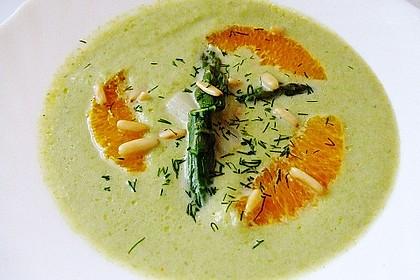 Spargelcremesuppe mit Orangen und Ingwer