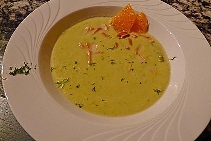 Spargelcremesuppe mit Orangen und Ingwer 3