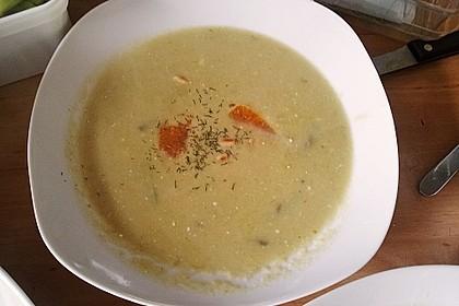 Spargelcremesuppe mit Orangen und Ingwer 5