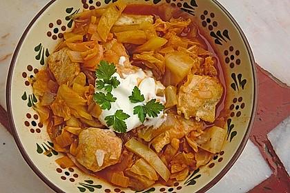 krümeltigers Spitzkohleintopf mit Paprika und Hühnerbrust 4