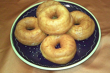 Amerikanische Donuts mit Apfelglasur 17