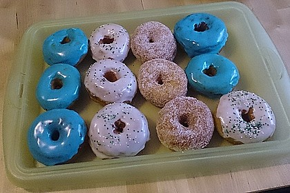 Amerikanische Donuts mit Apfelglasur 13