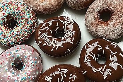 Amerikanische Donuts mit Apfelglasur 20