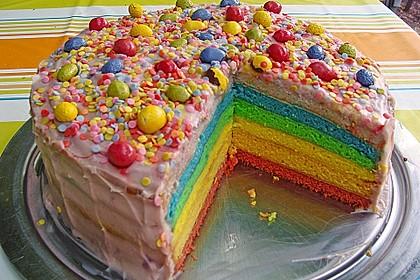Regenbogen-Torte (Bild)