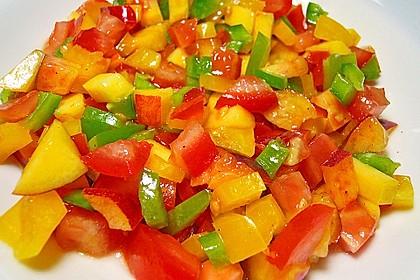 Paprika-Pfirsich-Salat 7