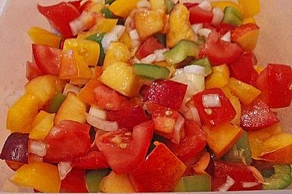 Paprika-Pfirsich-Salat 5