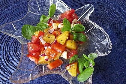 Paprika-Pfirsich-Salat 11