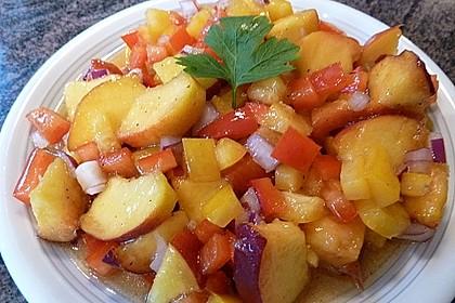 Paprika-Pfirsich-Salat 9
